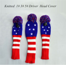 Golf Clubs Head Covers Five Stars Knitted Stripes HeadCovers Soft and Washable 3pcs/set Drive Wood Covers for Taylormade