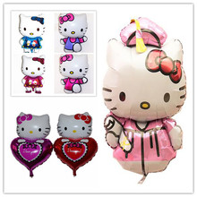 Kt cat cartoon large size more lovely Hello Kitty aluminum foil balloons party decoration choice high quality children's toys