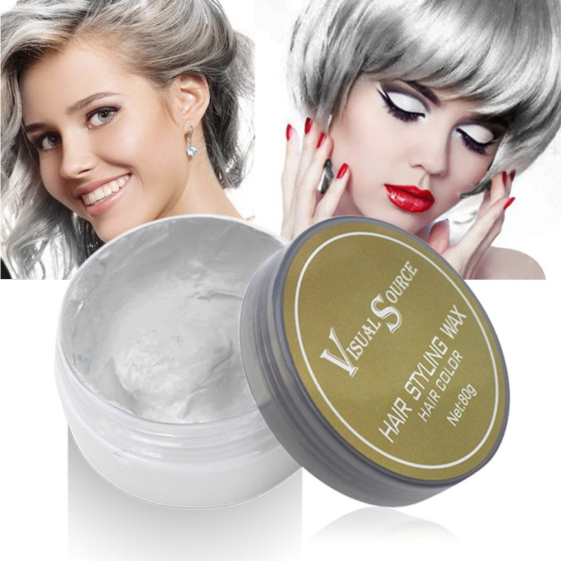 Professional Dynamic Modeling Hair Wax Makeup 5 Colors Hair Dye Wax Hair Color One-time Molding Paste Color Hair Wax New 2018 4