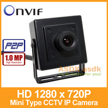 Free Shipping!! HD 1280 x 720P 1.0MP Mini Type IP Camera Indoor Security Camera ONVIF P2P CCTV Cam