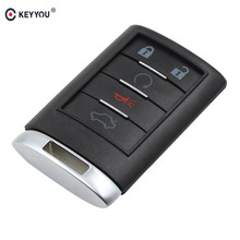 KEYYOU Replacement Shell Remote key Case Fob 5 Button For CADILLAC ATS SRX STS CTS DTS Free Shipping