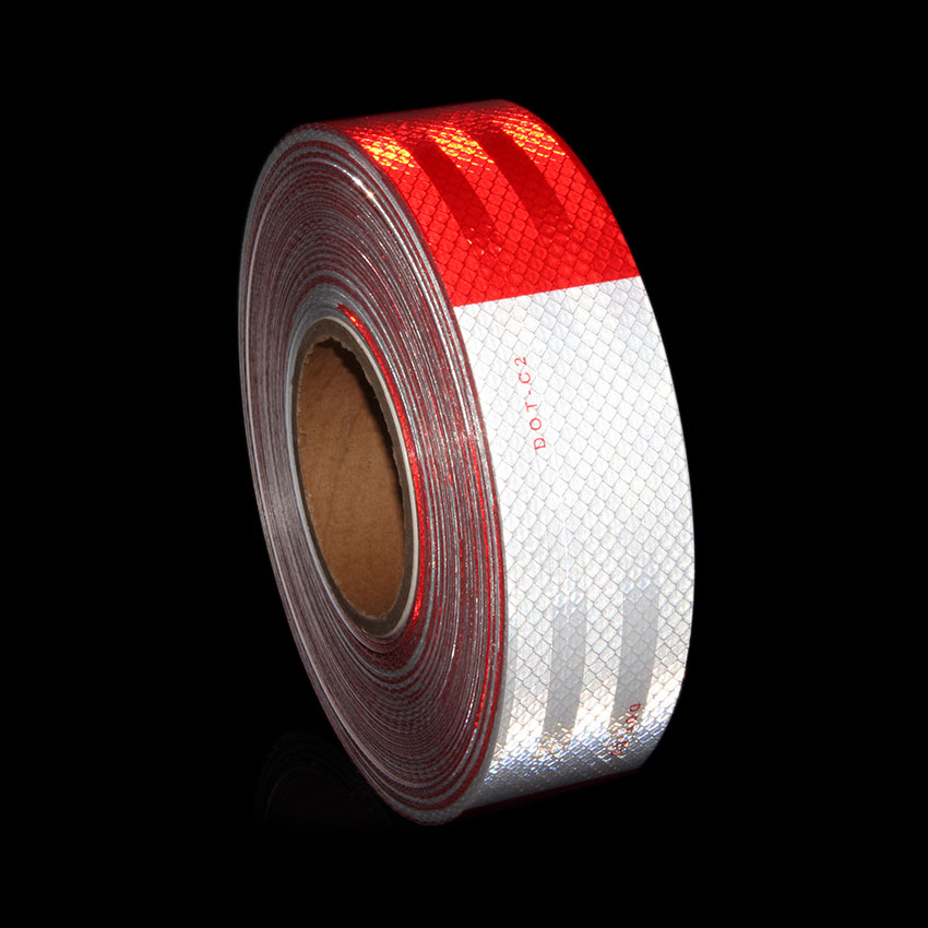 Car Safety Sticker Truck Trailer Mailbox Marking Tape Diamond Sticker Warning Lighting Car Reflective Strip DOT-C2 2 Inchx150Ft<br>