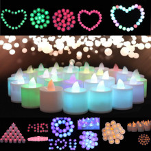 Hot!Mini Colorful Romantic Electronic Candle LED Light For Party Decorate Home Decoration Best Price Drop Shipping Jun15(China)