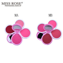 4 Colors Baked Blush Makeup Cosmetic Natural Baked Blusher Powder Palette Charming Cheek Color Make Up Face Blush MISS ROSE