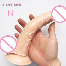 Buy DIAOSH 22.6cm Realistic Curved Dong Dildo Super Suction Cup, Flexible Penis Gay Sex Toys Dick Erotic Products Female