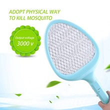 3 Color Electric Swatter Home Garden Pest Control Insect Bug Bat Wasp Zapper Fly Mosquito Killer(China)