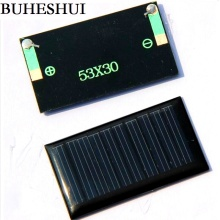 BUHESHUI 5V 30MA Mini Solar Cell Polycrystalline Solar Panel/Module DIY Solar Charger Education Kits 53*30MM 10pcs Free Shipping(China)