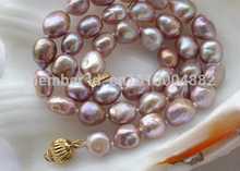 "17"" 11mm lavender baroque freshwater pearl necklace"