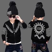 Gulugulumi Boy Autumn Spring Print Student Baseball Wear Kid Outdoor Sport Outwear Boy School Hip Hop Casual Jacket Kid Clothes