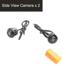 Vehicle Car Auto Side View Camera 360 Degree Angle Adjustable Side Mirror Flush Mount Camera, Mirror Image w/o Grid Lines