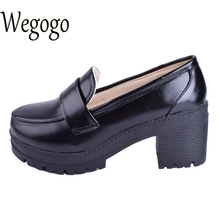 Cute Mori Girl single shoe cosolay uniform College student Maid Round Toe Japanese School Uniform Uwabaki Flat Shoes Black Wine(China)