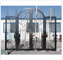 Custom design wrought iron entry door manufacturer model hench-ied11
