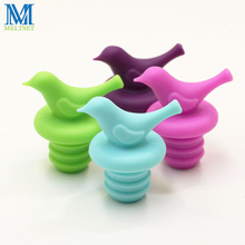 4pcs/Lot Bird Design Silicone Wine Stopper Safety Bar Accessories Sealed Wine Bottle Stopper