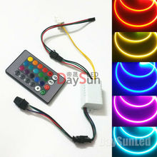 RGB Light Illuminators for Car DC 12V Light Source 1 Set Free Ship Side Glow Fiber Light Engine 2-6mm Fiber Cable Light Holder