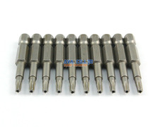 "10 Pieces Magnetic Star Screwdriver Bit S2 Steel 1/4"" Hex Shank 50mm Long (T15)"