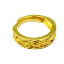 New Jewelry Superhero The Flash Ring Can Open Cover Lightning Logo 24K Gold Rings For Men And Women Collection