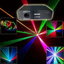 RGB 1W Laser Animation Projector Lines Scan Beam Party Bar Club DMX512 ILDA DJ Disco Dance PR. ad Stage Light show s23 Fast Ship(China)