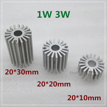 10 pieces1W 3W Aluminium Heat Sink for LED Plate Cooling. LED PCB Radiator Cooler 20*10mm  20*20mm  20*30mm. free shipping.