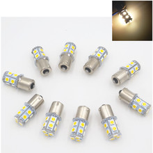 CYAN SOIL BAY 10PCS Warm White 1156 BA15S P21W RV Camper Trailer 13 SMD LED 1141 1003 Interior Light Bulbs 12V 24V(China)