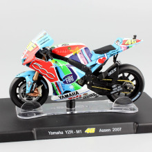 1:18 scale No.46 Valentino Rossi MotoGP Moto Cross Yamaha YZR-M1 YZR M1 Assen 2007 motorcycle road bike racing diecast car toys(China)