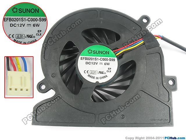 SUNON EFB0201S1-C000-S99 Server Cooling Fan DC 12V 6W 4-wire<br>