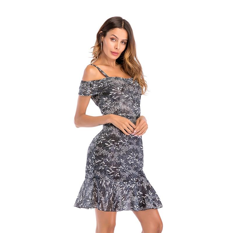 Großhandel Weißes Chiffon Kleid Frauen Sommer Partei 2018 Weg Kleid 54jqL3AcR