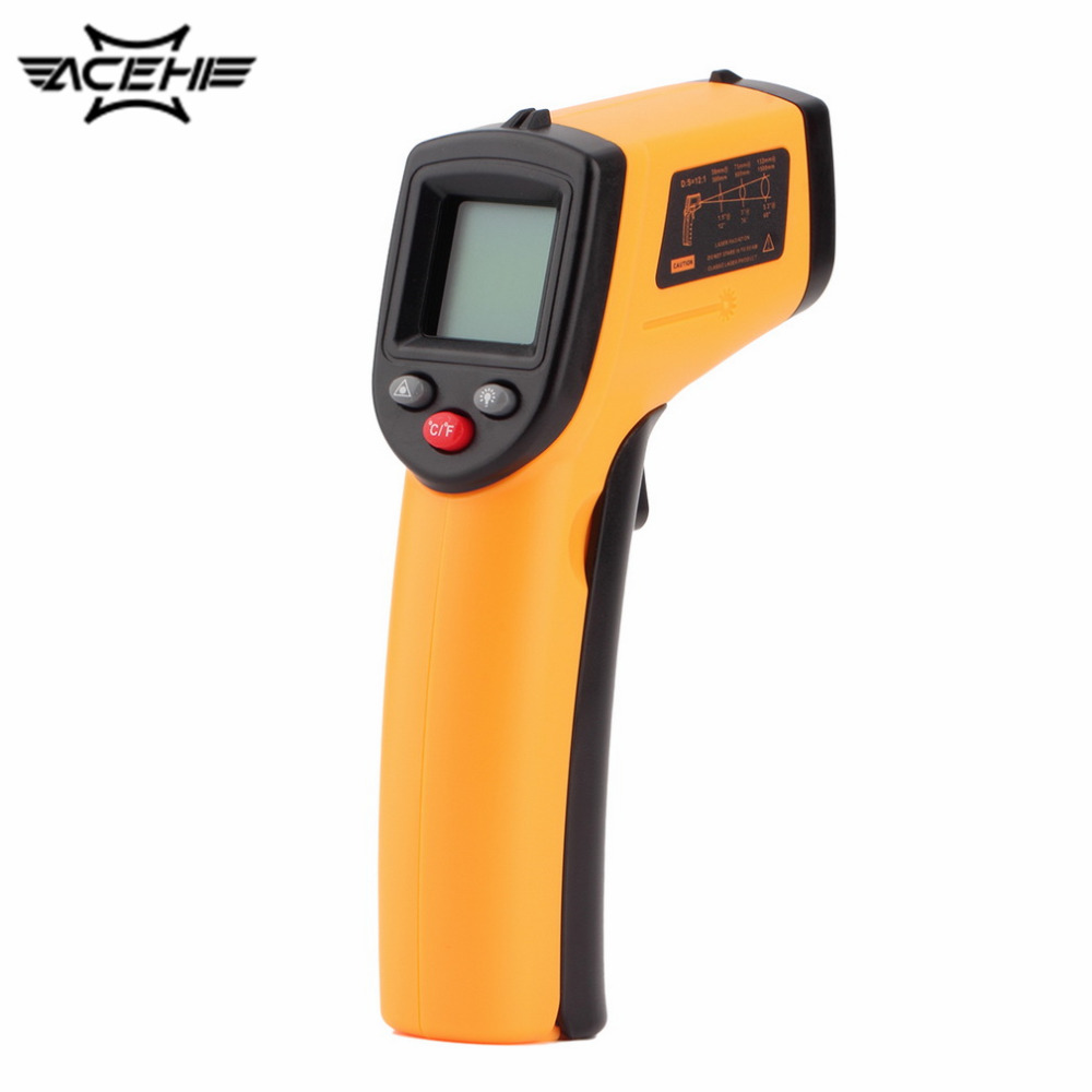 GM320 Digital Non-Contact IR Laser Display Digital Thermometer Gun Handheld -50~330 Degree Thermoregulator with Backlight<br><br>Aliexpress