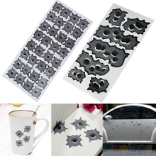 Car Styling 32 Bullet Hole Orifice Sticker Graphic Decal Shothole Car Auto Helmet Windows  2MNQ 318P