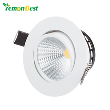 Led downlight spot led Super Bright Recessed LED Dimmable Downlight COB 3W 5W 7W LED Spot light Ceiling Lamp(China)