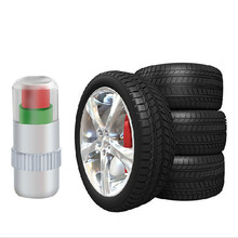 Universal  4PC Auto Tire Pressure Monitor Valve Stem Caps Sensor Indicator Alert wholesale A2000