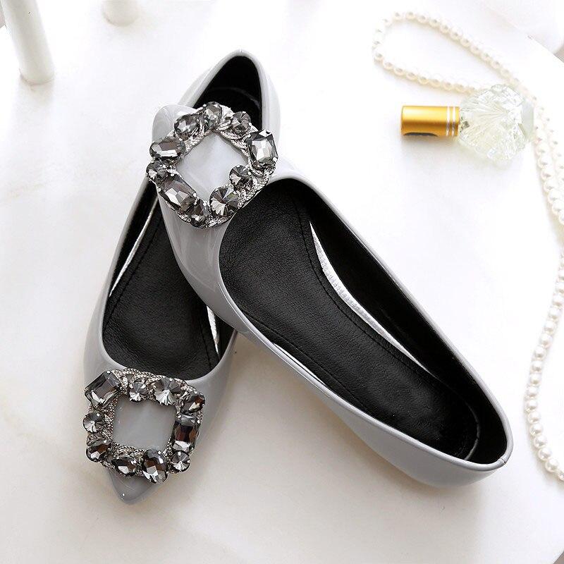 SZiVan-Women-flats-PU-patent-leather-shoes-New-fashion-pointed-Toe-crystal-diamond-plus-SIZE-33