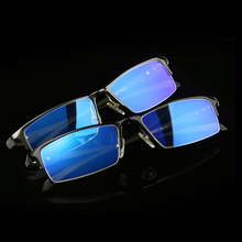 Anti Blue Light Ray Computer Glasses Frame Men of Spectacles Frame Square And AL-Mg Alloy Hinge Vintage Eyeglasses Semi-Rimll268