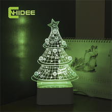CNHIDEE Novel USB Night Light Star 3D Led Lamapara Nightlight Christmas Tree Dimmable Table Lamp as Creative Gifts
