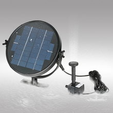 Solar Power Water Floating Fountain Pump Pool Garden Water Pump Kit for Bird Bath Pond Pull 190L/H 170cm Lift 9V 2W/3W