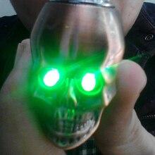 Colorfull Light Skull Tobacco Pipe Jamaica Weed Tobacco Smoking Pipes Gift Smoke Detectors Weed Grinder Smoke Narguile Hookah