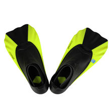 TOPIS swimming training game short fins adult children swim fins snorkeling snorkeling Sambo yellow flippers diving equipment S