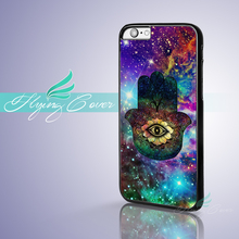 Capa Wholesale Nebula Hamsa Hand Case for iPhone 7 6 6S Plus 5S SE 5C 5 4S 4 Cover for iPod Touch 6 Case for iPod Touch 5 Case.