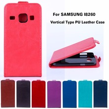 Vertical Flip Leather Case For Samsung Galaxy Core I8260 I8262 4.3 inch GT-I8262 8260 GT i8262 8262 Cover Housing Shell