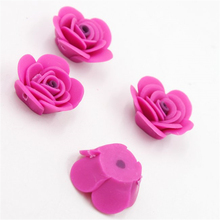 10pcs/lot Wholesale High Quality Lovely Rose Red Flower Clay Fashion Beads Fit DIY Jewelery Makings 113652