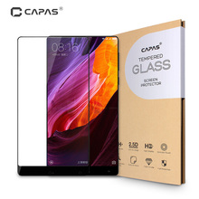 Tempered Glass for Xiaomi Mi Mix Screen Protector Original CAPAS Almost Full Cover Explosion-proof Protective Film LCD Guard(China)