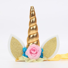 Unicorn Horn Cat Ears Baby Girl Kids Headband Photo Shoot Accessories for Halloween Christmas Kids Birthday Party Hat Supplies