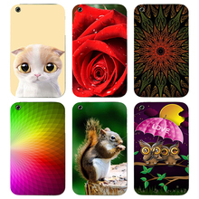 Case For Apple iphone 3 3G 3GS Back Cover Flower Plants Original Hard Plastic Printed Cartoon Cute Cat Owl Animal Phone Case