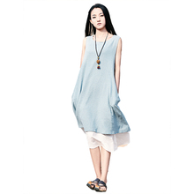 spring and summer of 2018 women's dresses new cotton original Sen female manufacturers selling ladies dress 2126(China)
