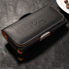 New Top grade Universal Holster skin Waist hanging Belt Clip Leather Pouch Cover Case For Blackview BV5000