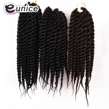 12'' Havana Mambo Twist Crochet Braid Hair Marley Twists Braiding Hair Extension 12strands 80g/per pack Eunice Hair(China)