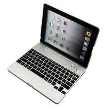 Luxury Wireless Bluetooth 3.0 Keyboard Backup Build-in 4000mah Battery Case Cover With Stand For iPad 2 3 4 + Film + Stylus