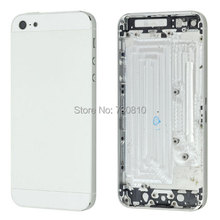 Black White Color Replacement part Full Housing Back Battery Cover Middle Frame Metal Back Housing For iPhone 5 5G
