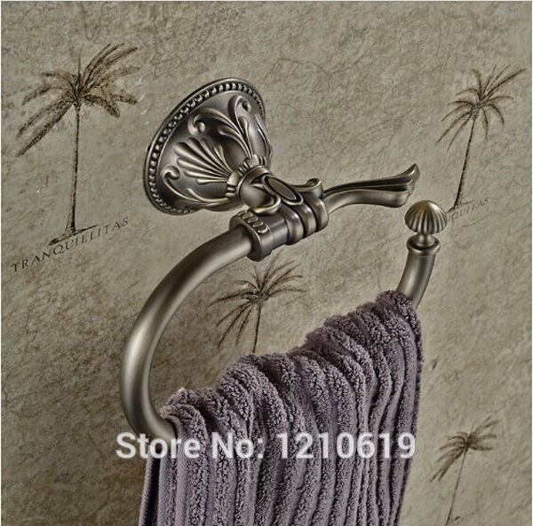 Newly US Free Shipping Wholesale And Retail Vintage Oil Rubbed Bronze Bathroom Towel Ring Towel Hang Rail Retro Wall Mounted<br>
