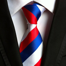 Necktie High Quality 8cm Men's Russian flag striped ties for suit business wedding Casual Fashion Accessories