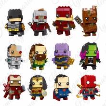 12Pcs Marvel Avengers Super Heroes Batman iron Man Spiderman Building Block Bricks Toys Children Compatible Lego